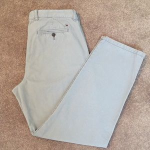Tommy Hilfiger Men's Cotton chino gray pants 34/30